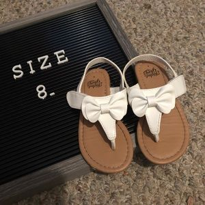 Girls White Faded Glory Sandals
